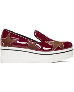 Red Star Binx Platform Slip-on Sneakers
