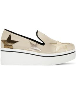 Beige Star Binx Slip-on Sneakers