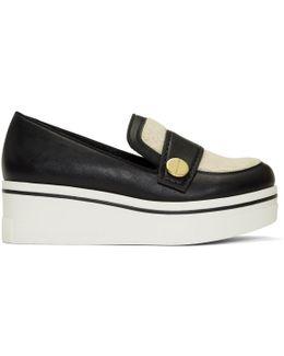 Black Shearling Binx Platform Slip-on Sneakers