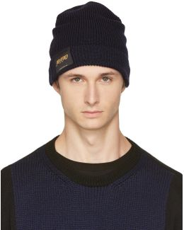 Navy 'members And Non Members Only' Beanie