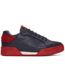 Navy Cord Sneakers