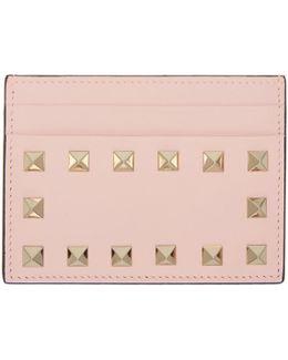 Pink Rockstud Card Holder