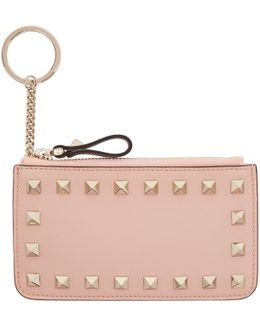 Pink Rockstud Coin Pouch