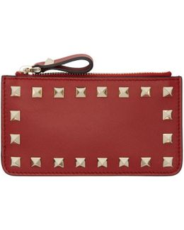 Red Rockstud Coin Pouch