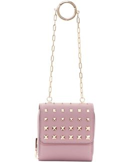 Pink Garavani Compact Wallet Chain Bag