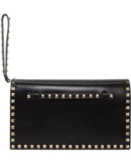 Black Small Rockstud Clutch