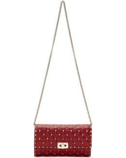 Red Garavani Rockstud Spike Chain Bag