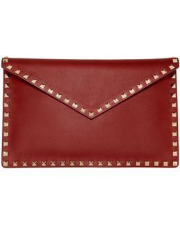 Red Garavani Rockstud Envelope Pouch