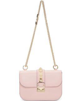 Pink Small Rockstud Lock Bag