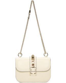 Ivory Rockstud Clasp Shoulder Bag