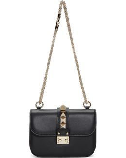 Black Small Rockstud Lock Bag