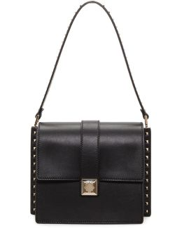 Black Rockstud Boxy Trunk Bag