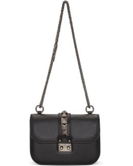 Black Garavani Small 'rockstud Noir' Lock Bag