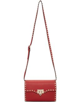 Red Garavani Medium Rockstud Flap Bag