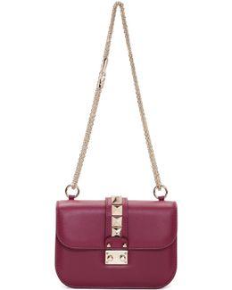 Burgundy Garavani Small Lock Bag