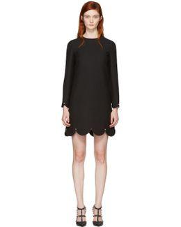 Black Scallop Rockstud Dress