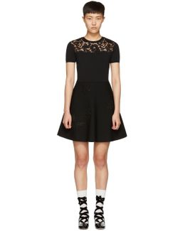 Black Knit Butterfly Dress