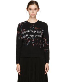 Black Jamie Reid Edition 'the Next Beginning' Sweater