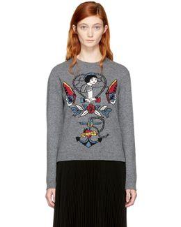 Grey Cupid 'joe Mary' Tattoo Sweater