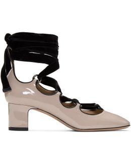 Pink Patent & Velvet Ghillie Heels