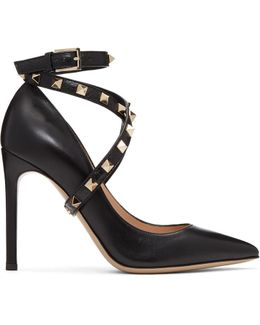 Black Garavani Studwrap Heels