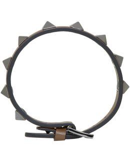 Brown Rockstud Bracelet