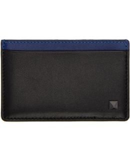 Black & Blue Rockstud Card Holder