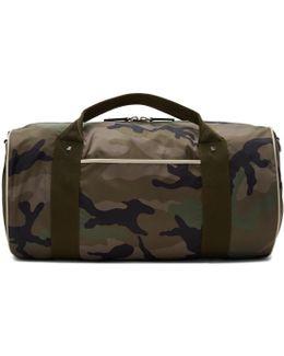 Green Camo Rockstud Duffle Bag