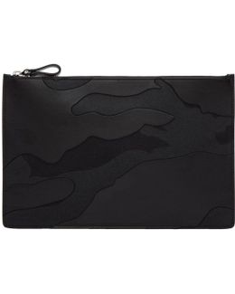 Black Large Camo Pouch