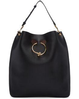 Black Large Pierce Hobo Bag