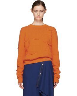 Orange Multi Pocket Sweater