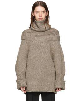 Taupe Wool Turtleneck