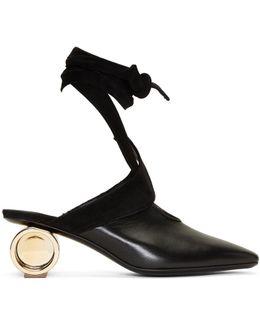 Black Cylinder Ballet Heels