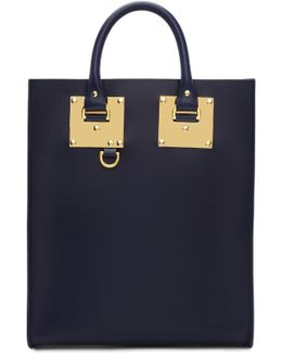 Navy Albion Box Tote