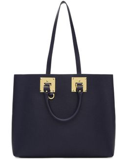 Navy Cromwell East West Tote