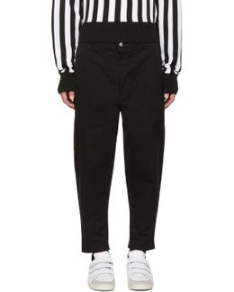 Black Carrot Fit Worker Trousers