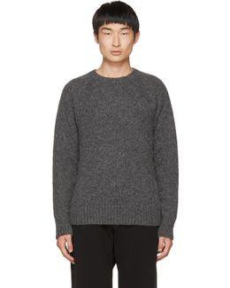 Grey Knit Pullover