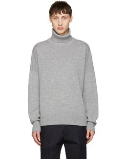 Grey Oversized Merino Turtleneck