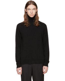 Black Merino Knit Turtleneck