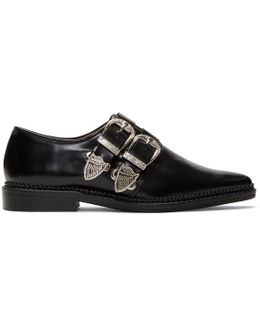 Black Two-buckle Loafers