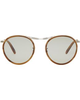 Silver & Tortoiseshell Mp-3 30th Sunglasses