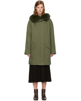 Green Classic Long Fur-lined Parka