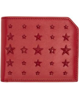 Red Mixed Stars Albany Wallet