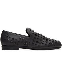 Black Stars Sloane Loafers