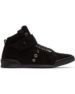 Black Suede Lewis High-top Sneakers