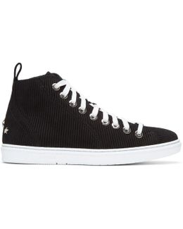 Black Suede Colt High-top Sneakers