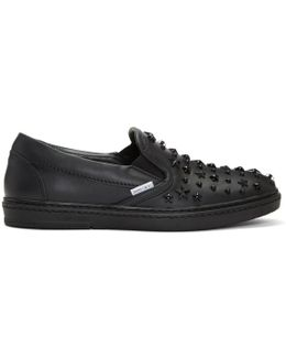 Black Mixed Stars Grove Slip-on Sneakers