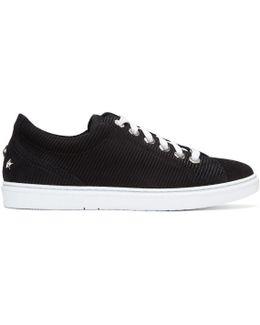 Black Suede Cash Sneakers