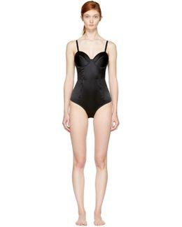 Black Satin Bodysuit
