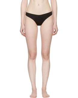 Black Jersey Thong